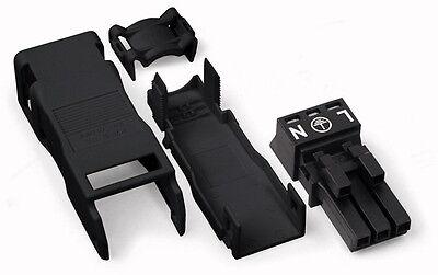 WAGO Winsta Mini Buchse 3 polig 890-103 schwarz mit Zugentlastung