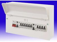MK Sentry K7666sMET Metal Fully Populated Board 16 Way 100A Main Switch 2x63A RCDs and 10x MCBs