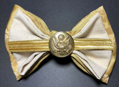 Vintage Parts Bow Tie With WW II  US Army Button for sale  Shipping to India