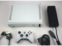 White Xbox 360 console with games