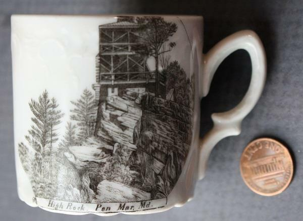 Pen Mar Maryland High Rock Overlook Loop Wheelock China Co. cup-Made in Germany!