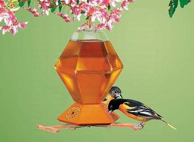 PERKY PET LARGE 36 oz ORIOLE  NECTAR FEEDER with NO-DRIP Feeding Base, PP251