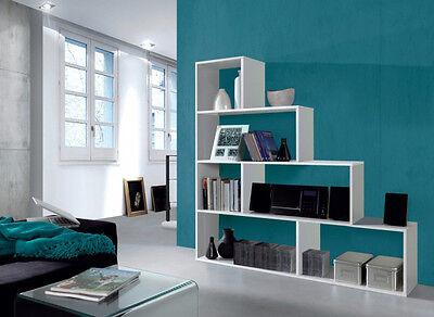 Estanteria o libreria para salon despacho u oficina y dormitorio blanco brillo