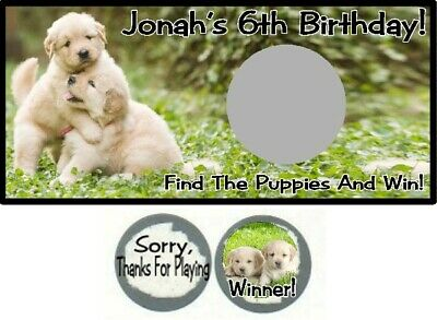 10 Puppies Puppy Dogs Birthday Party Baby Shower Scratch Off Game Cards Doggies