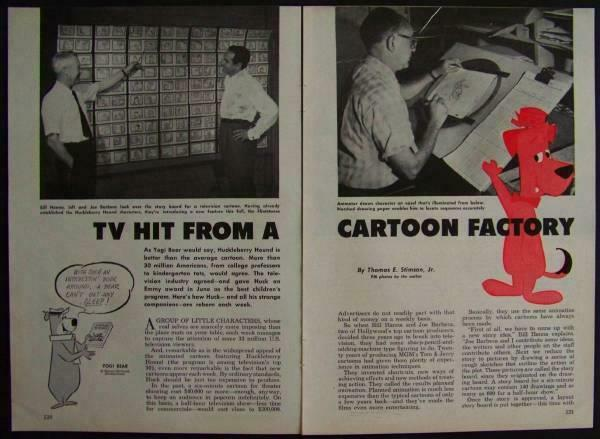 Yogi Bear Huckleberry Hound 1960 Hanna Barbera article