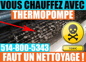 Nettoyage Complet,Thermopompe, Air Climatisé, Climatiseur Mural