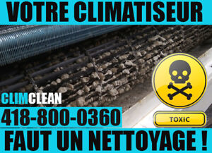 Nettoyage microbiologique, Thermopompe, Climatiseur Mural