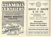 1953 Robert Noblett Audenshaw Chamois Marcus Barlow Crooked Lane Ad -  - ebay.co.uk