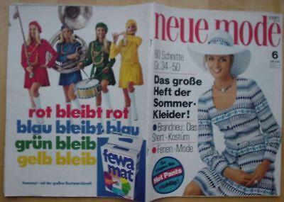 Neue Mode 1971/06 w/Burda Shorts Kostüm DIRNDL Hot - Deutsch Dirndl Kostüme