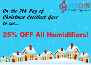 25% off ALL Humidifiers!