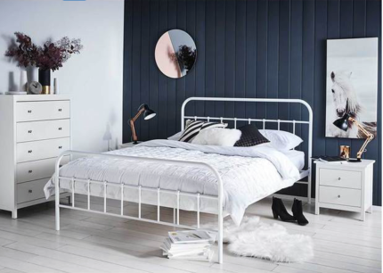 Queen Bed Frame + Two Bedside Tables