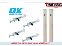 """OX Tools Internal Brick Laying Building Profliles - 2m / 6' 8"""" + 4 x Clamps"""