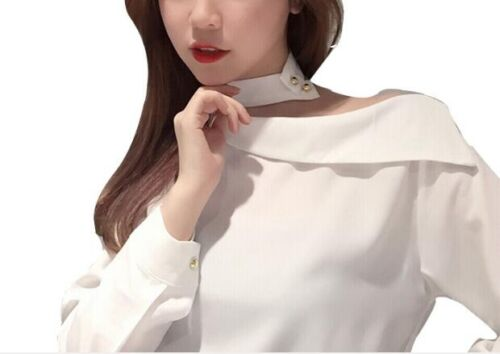 c9b2184bbd177c Off Shoulder Long Sleeve Fashion Women Blouse Korean Shirt Tops Spring  ClothesUSD 15.99