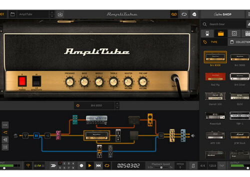 IK Multimedia Amplitube 5, guitar, amp effects cab upgrade software download