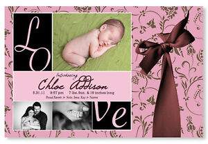 50 PHOTO Birth Baby Announcements Adoption & Envelopes