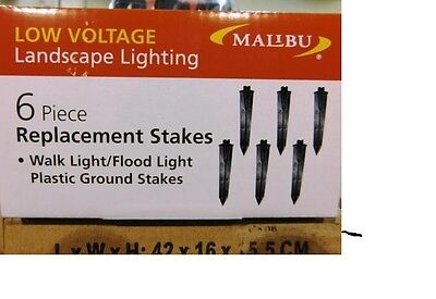6 New Malibu Light Replacement Stakes 8150-0800-6 Landscape