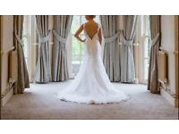 Mark Lesley Mia Sposa 7156 low back wedding dress Ivory size 12
