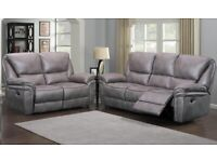 Leather Recliner Sofa Suite BRAND NEW