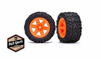 Traxxas 6773A Tires and Wheels - Assembled - Glued (2.8) RXT Orange Wheels (2)