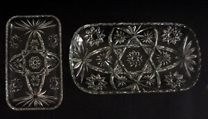 2 glass serving Trays : Condiments : Sandwiches : Cake : Cookies Cambridge Kitchener Area image 1