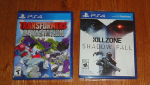 NEW PS4 games jeux NEUF