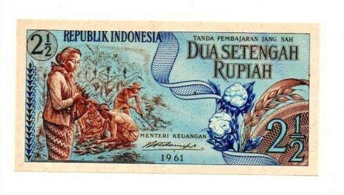 Indonesia  2 1/2 Rupiah 1961 P-79 Uncirculated   b