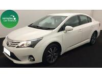 £244.35 PER MONTH WHITE 2015 TOYOTA AVENSIS 2.0 D-4D ICON BUSINESS DIESEL MANUAL