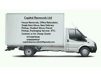 Man and van hire House,office,flat home move relocation rubbish removals delivery courier service