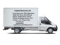 24/7 Man and van hire house office flat or home move and rubbish removals and storage services