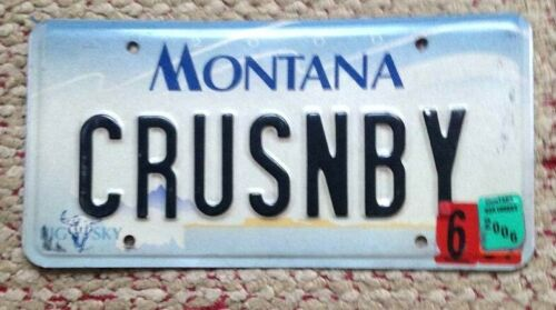 MONTANA VANITY PERSONALIZED LICENSE PLATE CRUISING BY PASSING THROUGH ALONG