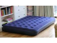 Double inflatable mattress +pump