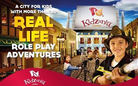 11 Ticket for Kidzania Westfield London for kids and 1 Adult ideally for a birthday party .