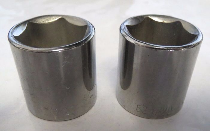 """KD 526120 20mm 6 PT 3//8/"""" Drive Standard Socket USA 2 Pcs"""
