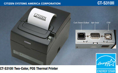 Ct-s310ii-u-bk Citizen Thermal Pos Usb Serial Printer Auto Cutter