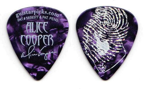 Alice Cooper Signature Guistar Imprinted Fingerprint Purple Pearl Guitar Pick