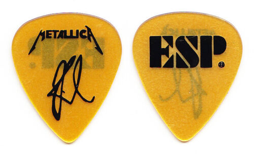 Metallica Kirk Hammett Signature Light Gold ESP Guitar Pick - 1993 Tour