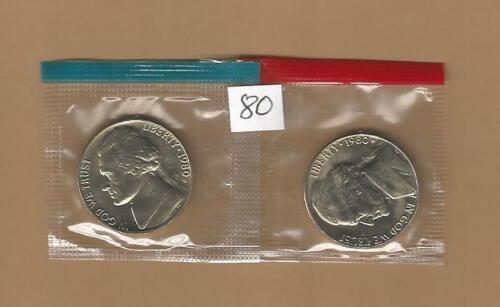 1980 P&D Jefferson Nickels