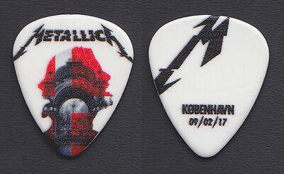 Metallica James Hetfield Copenhagen 2/9/17 Guitar Pick - 2017 WorldWired Tour