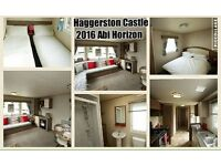 Caravan for hire at Haggerston castle and Craigtara
