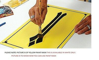 24 X 50yd White Avery Paint Mask Sign Vinyl Look