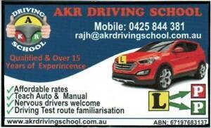 AKR DRIVING SCHOOL IN NORTHERN SUBURB (BUNDOORA)