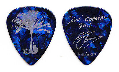 Kenny Chesney Signature Concert-Used Blue Pearl Guitar Pick - 2011 Coastal Tour