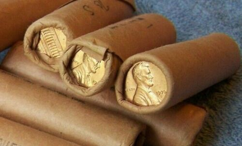 1970-S **Original Bank Wrapped ** Uncirculated Lincoln Cent Roll -OBW Pennys (K)