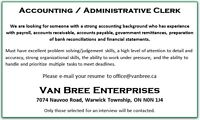 Accounting / Administrative Clerk