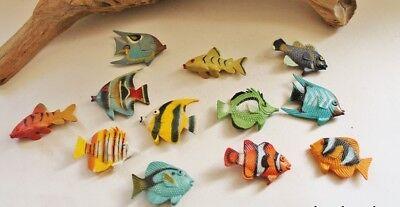 Maritime Streudeko 12 tropische Südseefische je ca. 3-4 x 3 cm aus Kunstoff ()