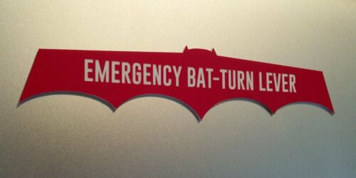 CUSTOM BATMOBILE EMERGENCY BAT-TURN LEVER DASH PLATE PROP BATMAN 1966