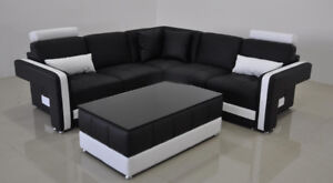Modern Condo Size Sectional Lounge - Model L6010B