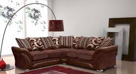 **GREY AND BROWN COLORS** New SHANNON Corner Or 3 + 2 Sofa, SWIVEL CHAIRS, Universal corner Sofa