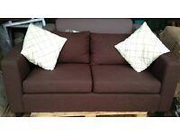 Tesco chocolate brown sofa - NEW