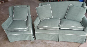 Compact love seat and chair, very good condition